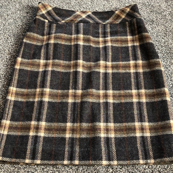 762fee594e L.L. Bean Dresses & Skirts - LL Bean Andover Wool Blend Lined Plaid Skirt